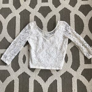 Charlotte Russe lace crop
